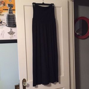 Motherhood Maternity maxi black skirt